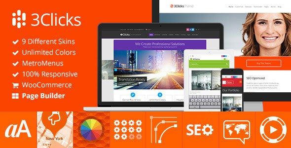 3 Clicks free wordpress theme
