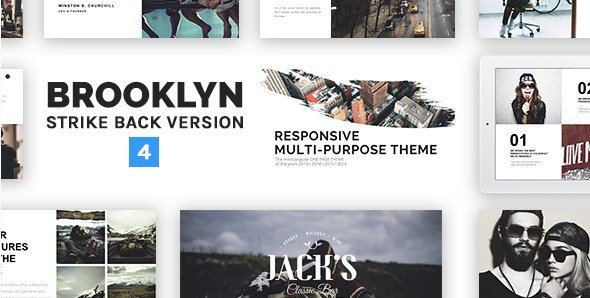 Brooklyn wp theme gratis