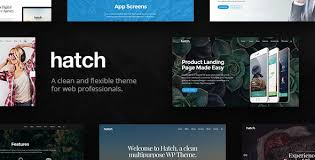 Hatch WordPress theme scroll terbaik