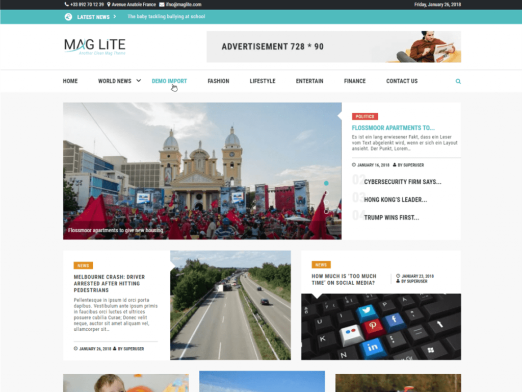 Grace Mag Lite Free WP Theme