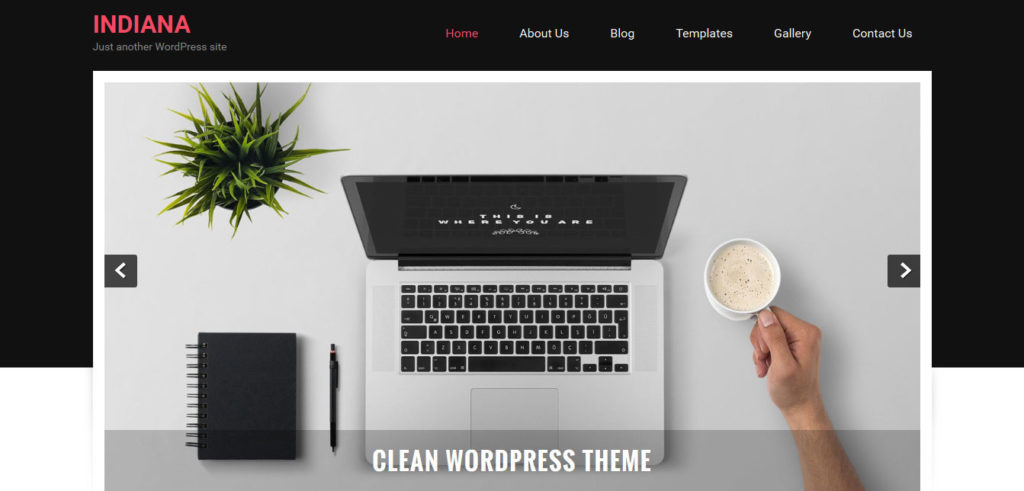 Indiana wordpress theme free