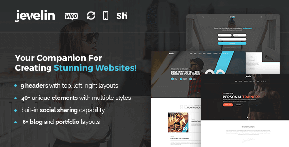 Jevelin WordPress Theme Scroll Terbaik