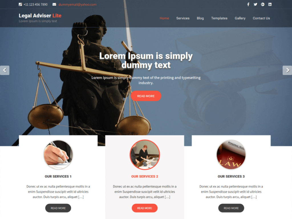 Legal Adviser Lite free wp theme
