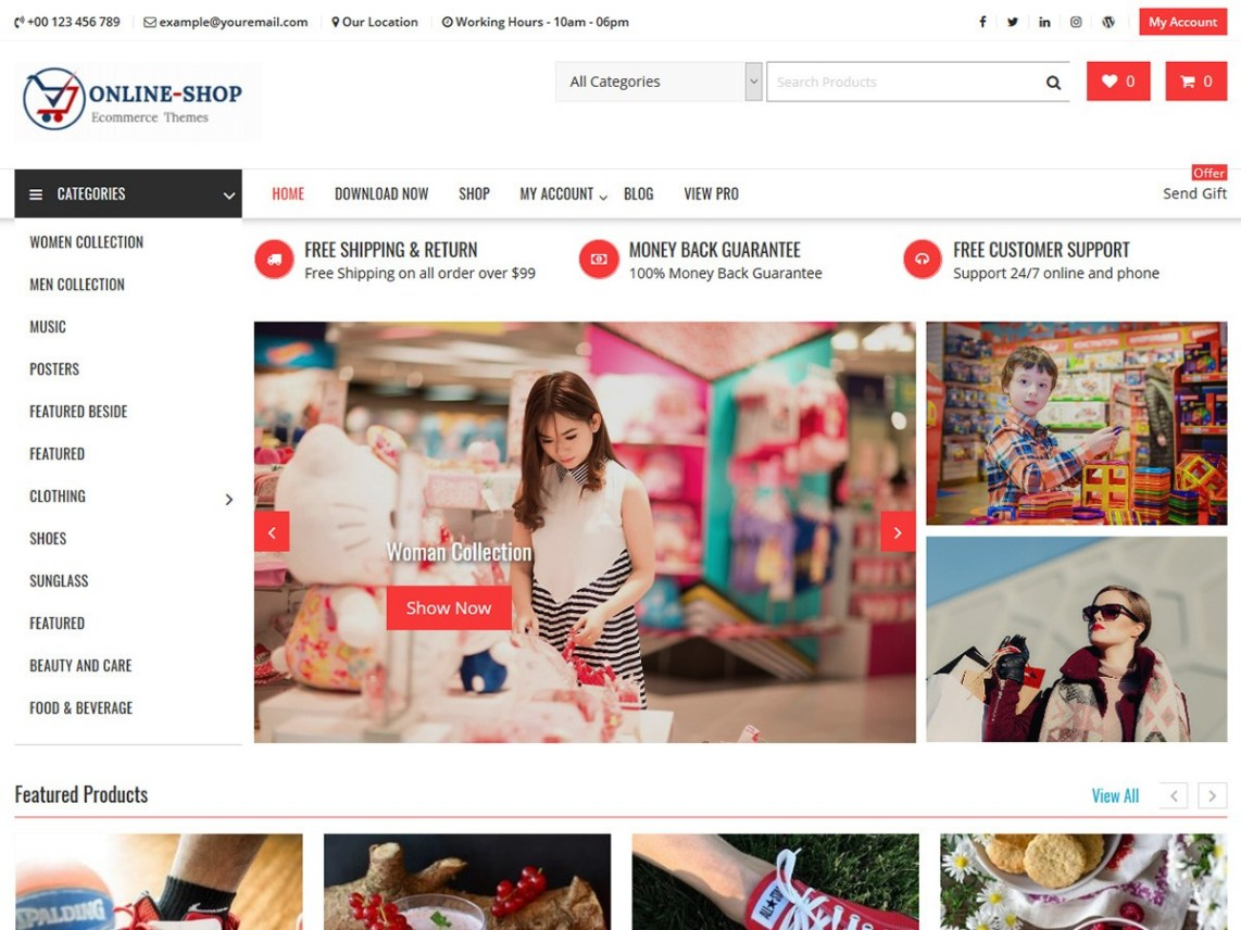 The Shop wordpress theme