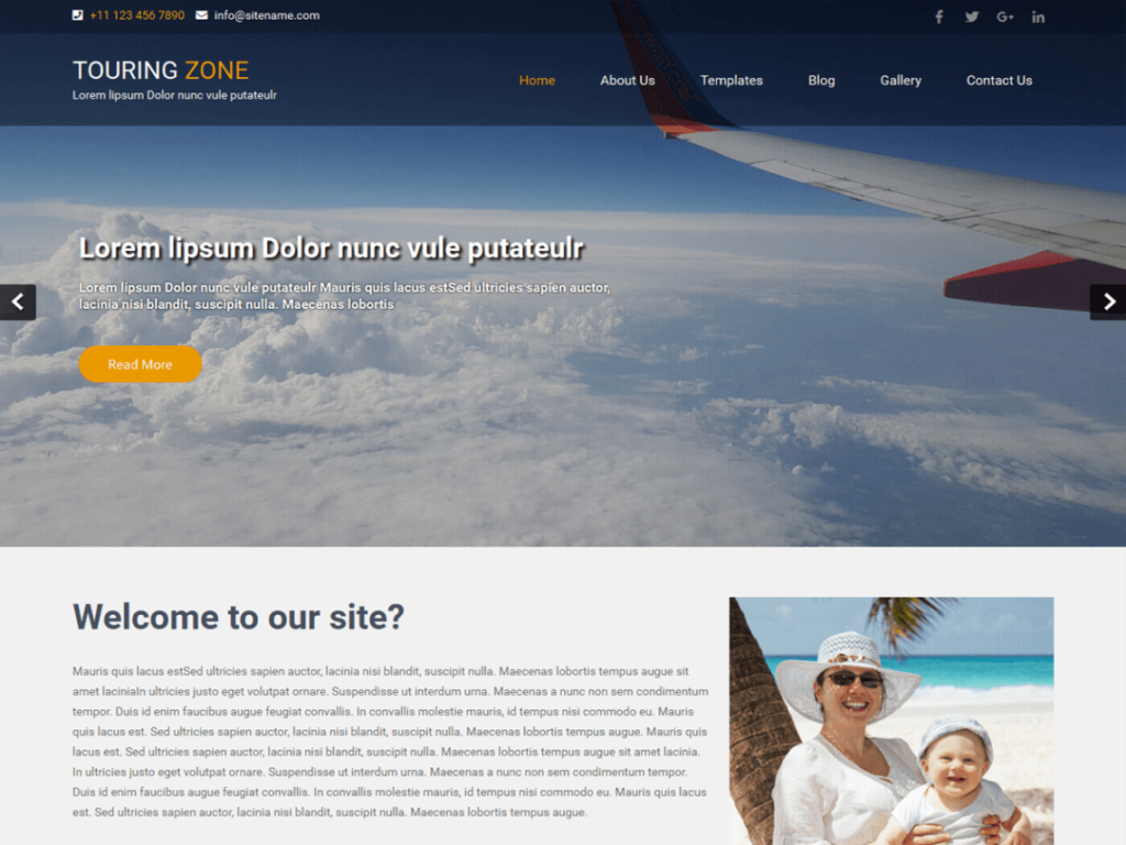 Touring Lite Zone free wp theme