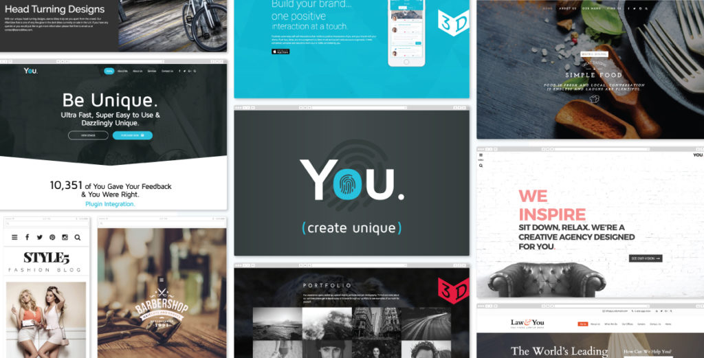 You wordpress theme scroll bagus